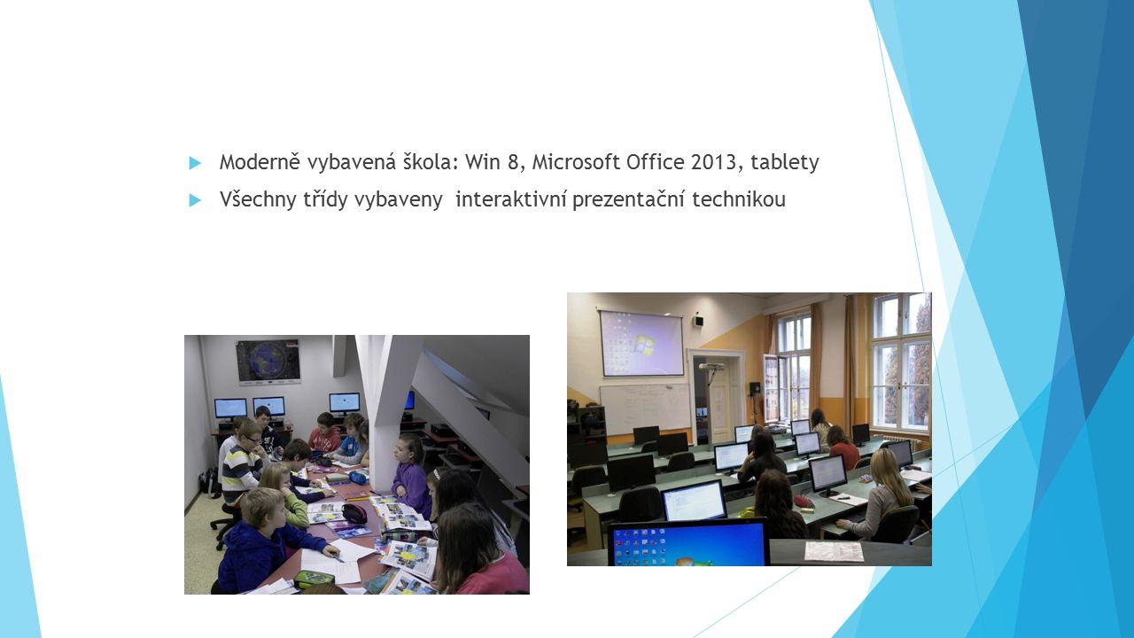 Moderně vybavená škola: Win 8, Microsoft Office 2013, tablety