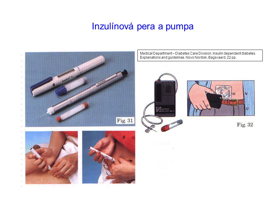 Inzulínová pera a pumpa