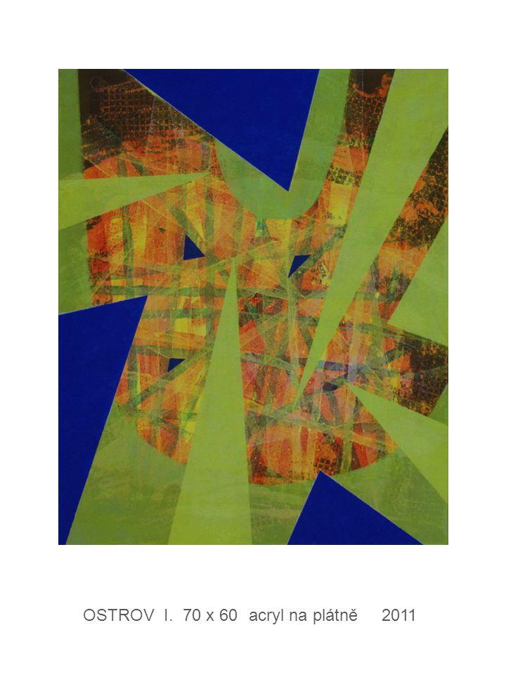OSTROV I. 70 x 60 acryl na plátně 2011