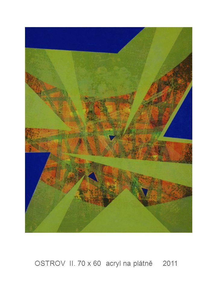 OSTROV II. 70 x 60 acryl na plátně 2011
