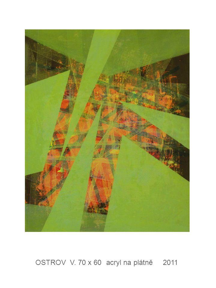 OSTROV V. 70 x 60 acryl na plátně 2011