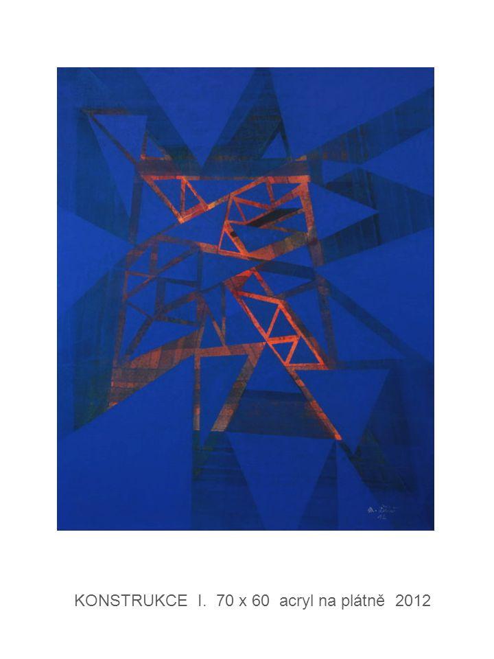 KONSTRUKCE I. 70 x 60 acryl na plátně 2012