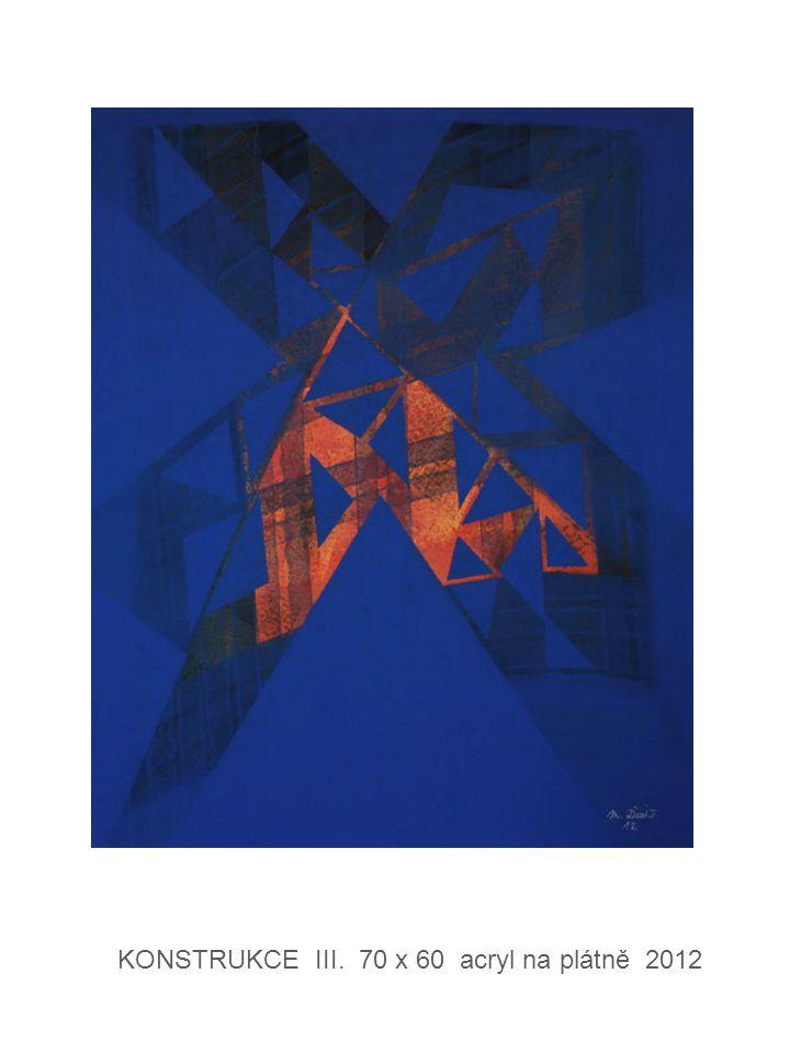 KONSTRUKCE III. 70 x 60 acryl na plátně 2012