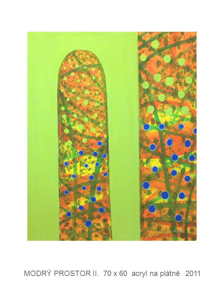 MODRÝ PROSTOR II. 70 x 60 acryl na plátně 2011