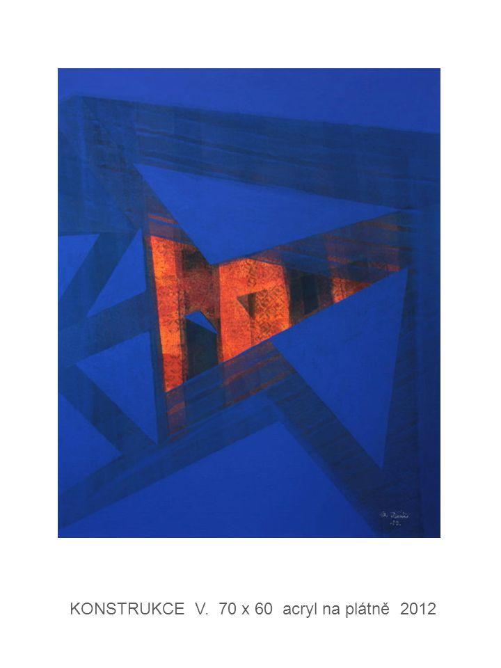 KONSTRUKCE V. 70 x 60 acryl na plátně 2012