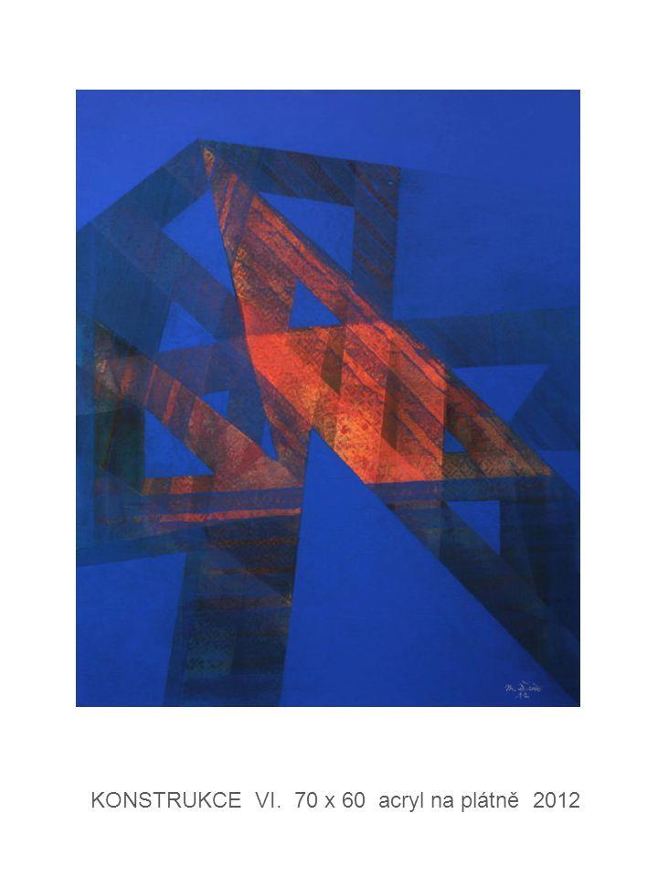 KONSTRUKCE VI. 70 x 60 acryl na plátně 2012