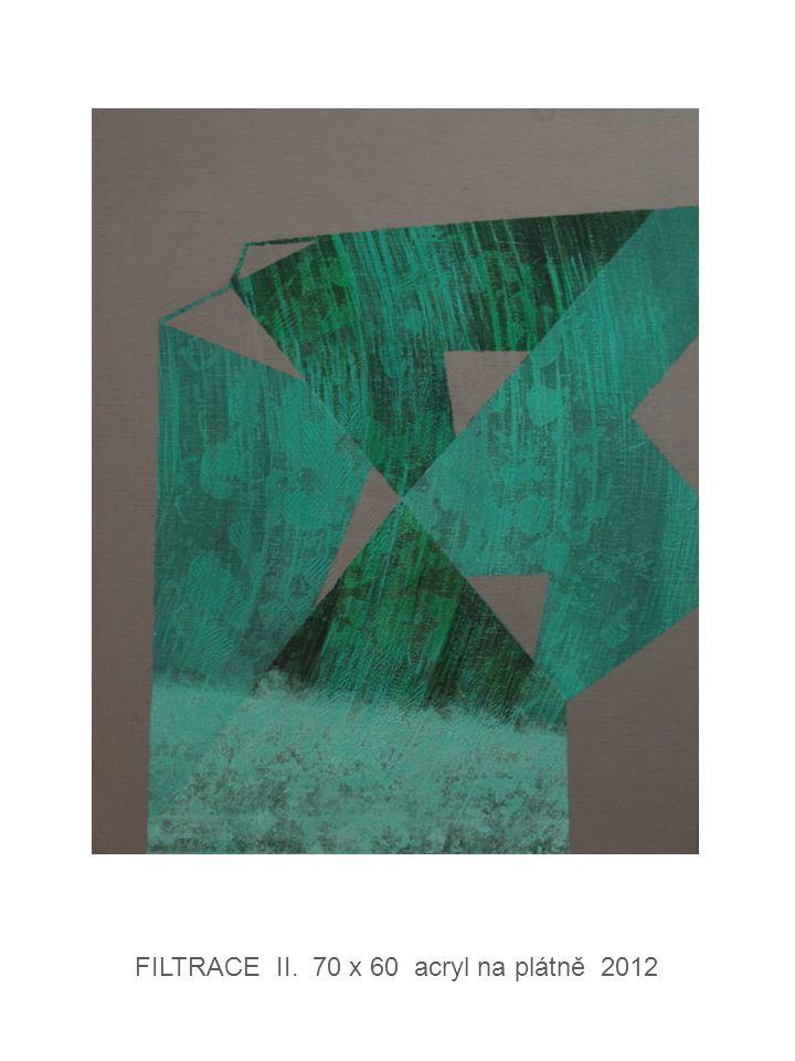 FILTRACE II. 70 x 60 acryl na plátně 2012