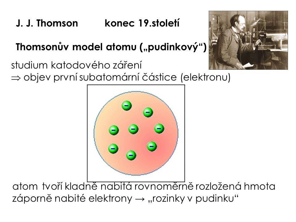 J. J. Thomson konec 19.století