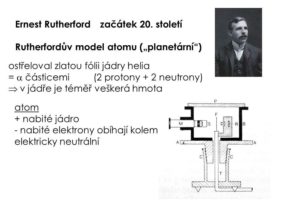 Ernest Rutherford začátek 20. století
