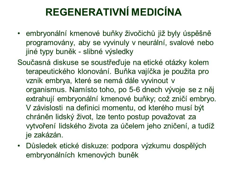 REGENERATIVNÍ MEDICÍNA