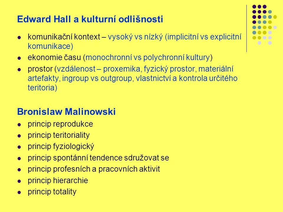 Edward Hall a kulturní odlišnosti