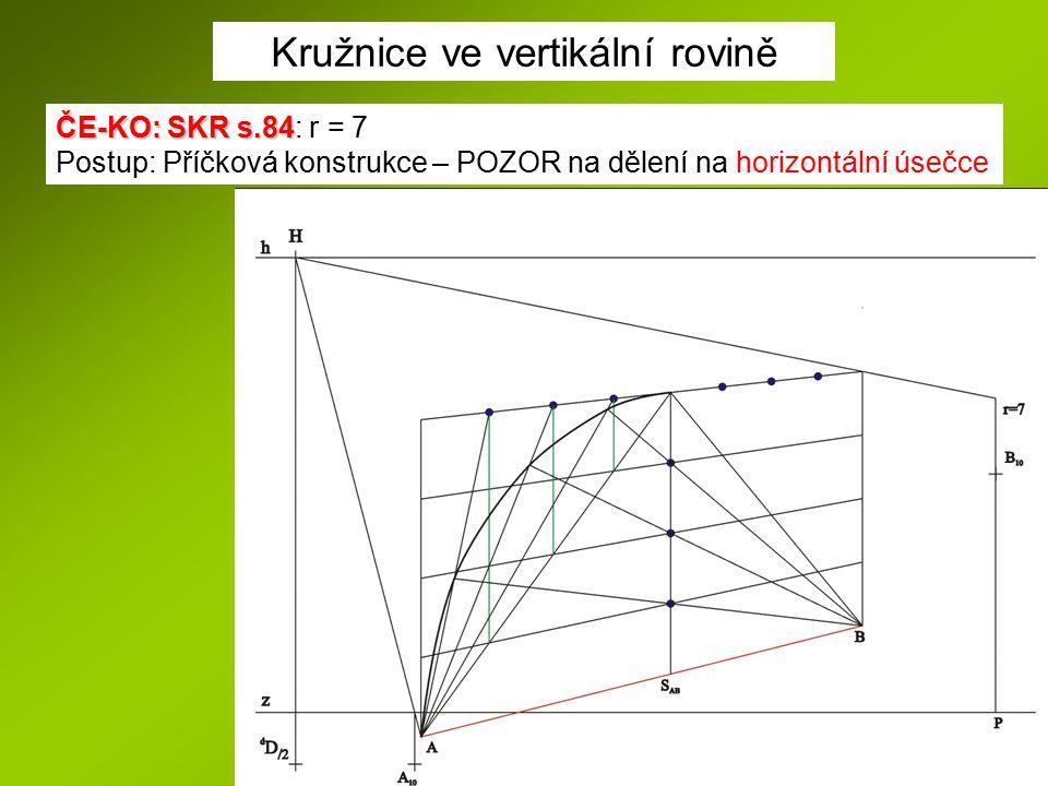 Kružnice ve vertikální rovině