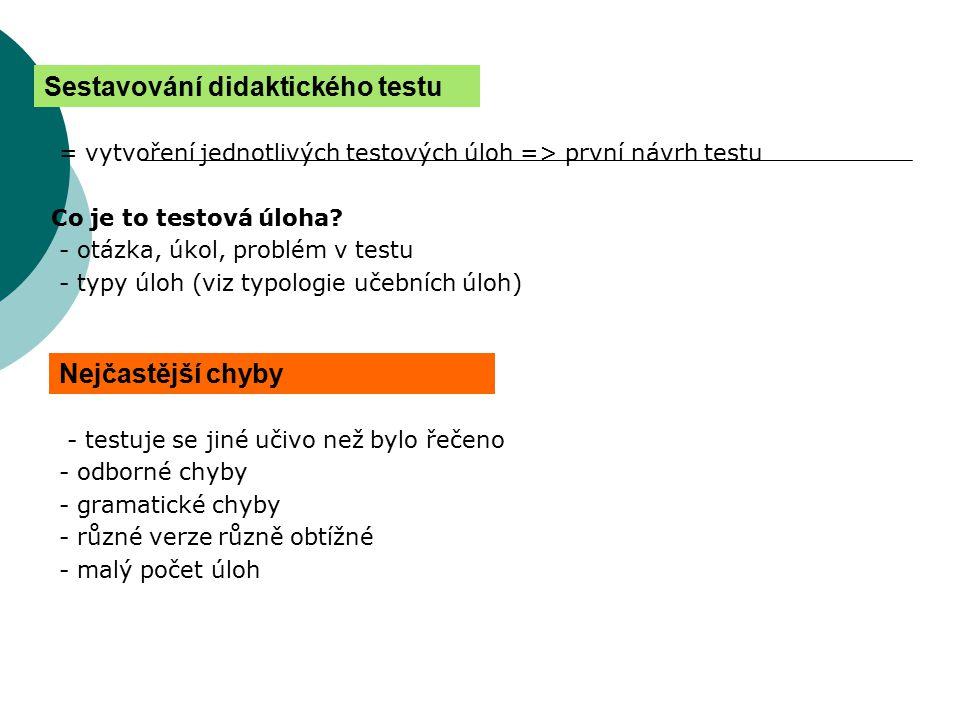 Sestavování didaktického testu