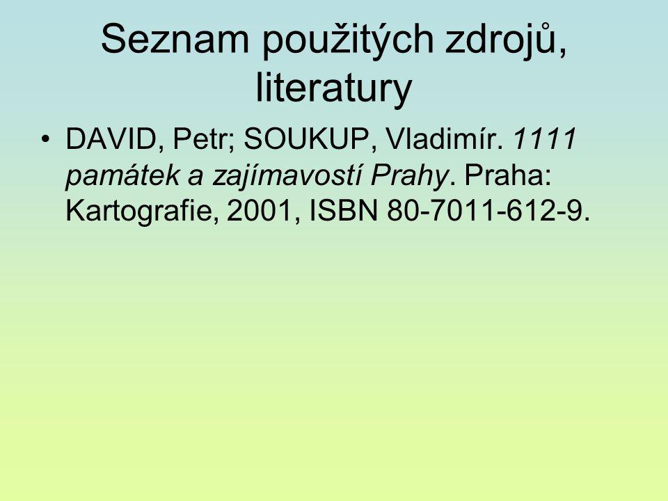 Seznam použitých zdrojů, literatury