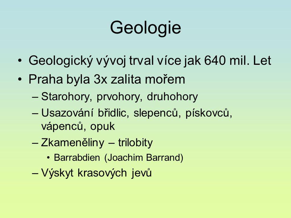 Geologie Geologický vývoj trval více jak 640 mil. Let