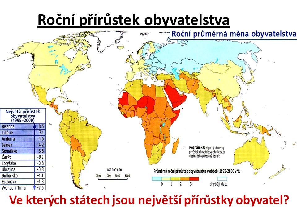 Roční přírůstek obyvatelstva