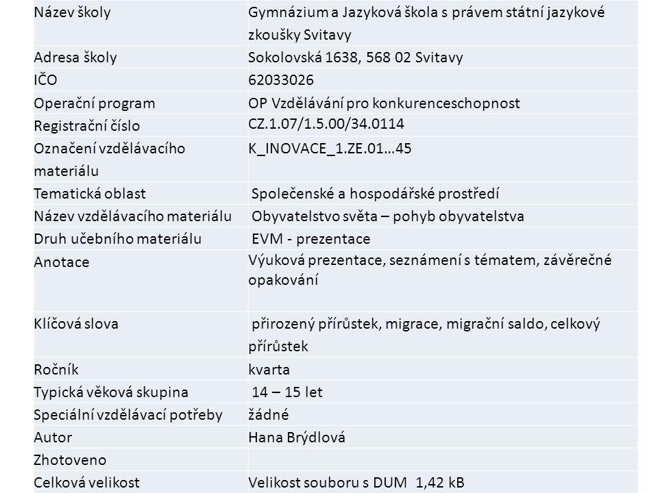 Název školy Gymnázium a Jazyková škola s právem státní jazykové zkoušky Svitavy. Adresa školy. Sokolovská 1638, 568 02 Svitavy.