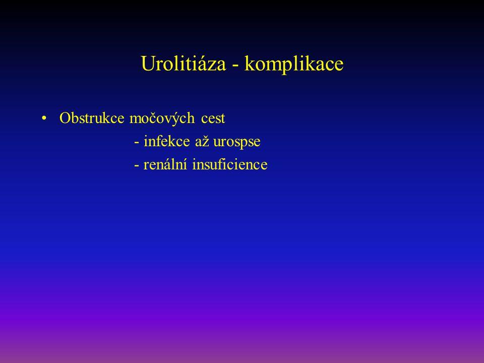 Urolitiáza - komplikace