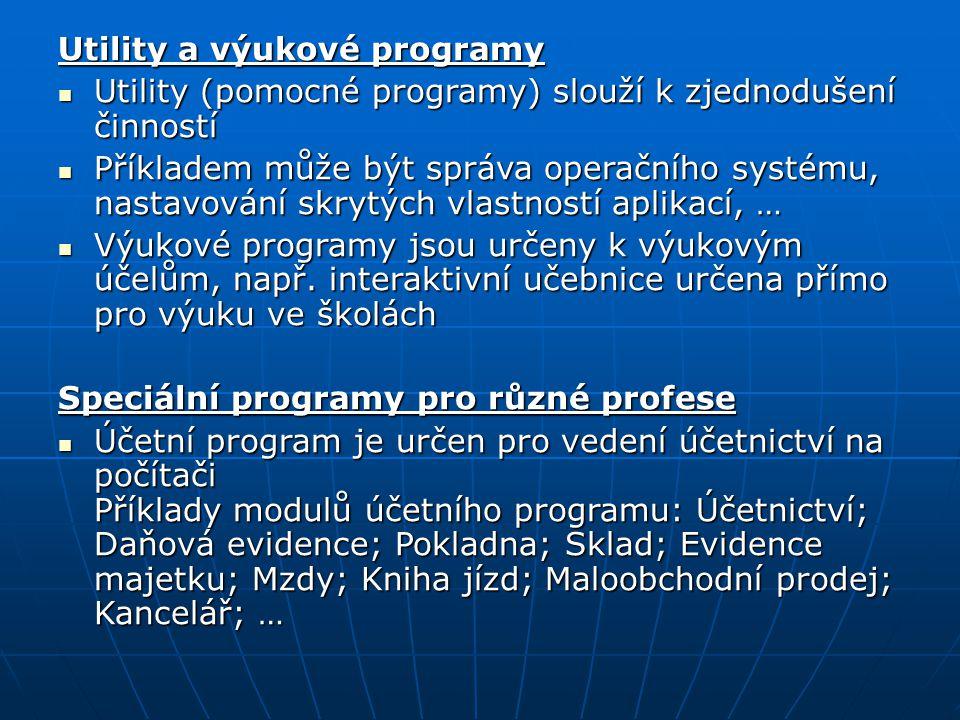 Utility a výukové programy