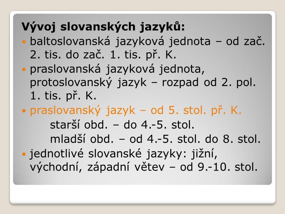 Vývoj slovanských jazyků: