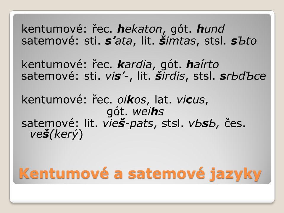 Kentumové a satemové jazyky