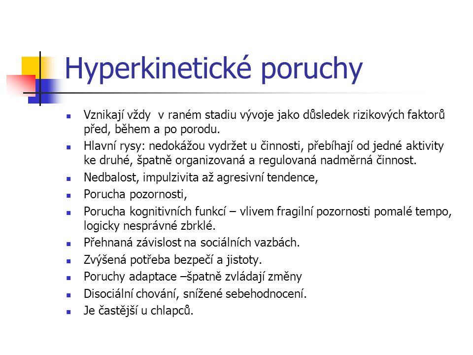 Hyperkinetické poruchy
