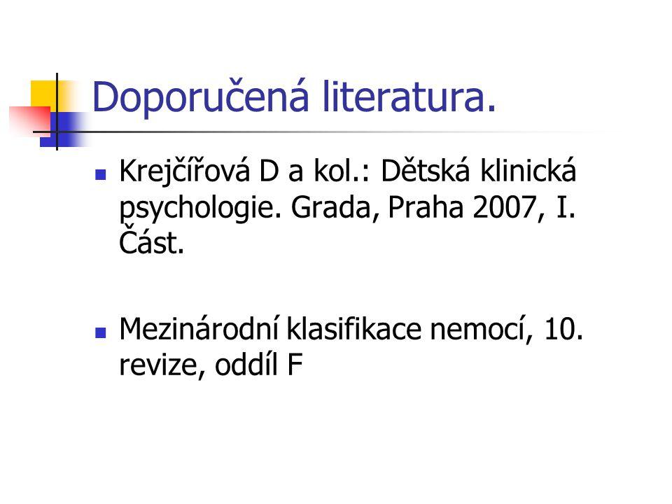Doporučená literatura.