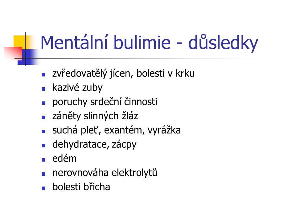 Mentální bulimie - důsledky