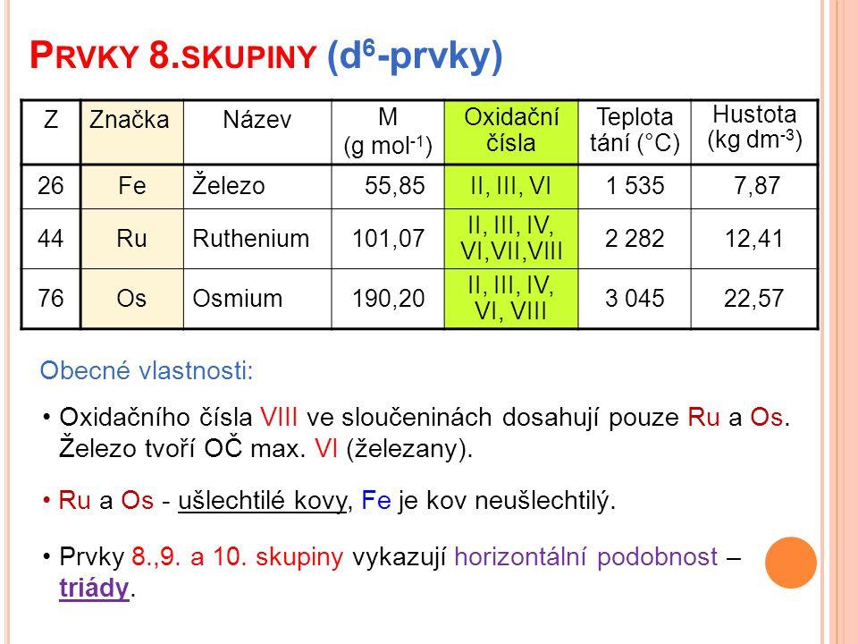 Prvky 8.skupiny (d6-prvky)