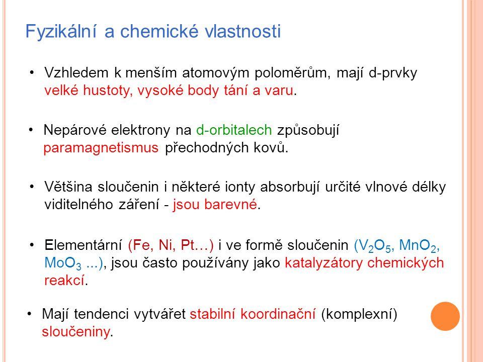 Fyzikální a chemické vlastnosti