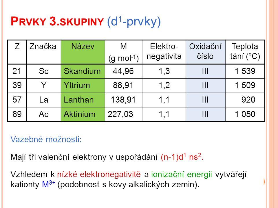Prvky 3.skupiny (d1-prvky)