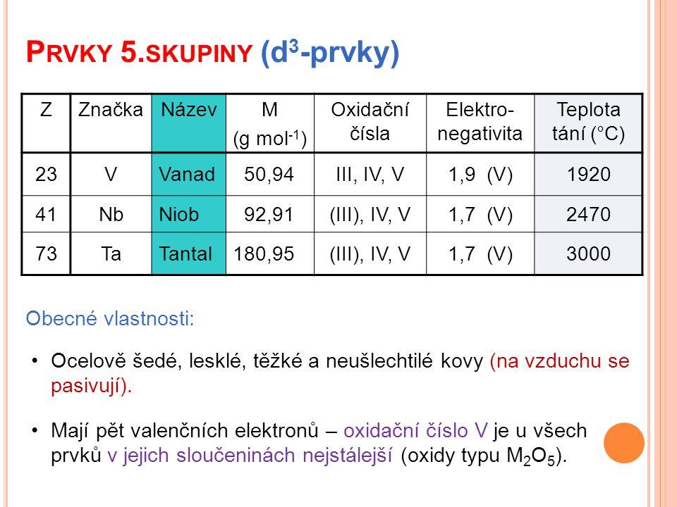 Prvky 5.skupiny (d3-prvky)