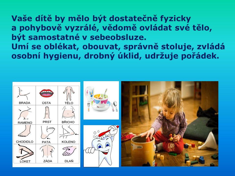 Vaše dítě by mělo být dostatečně fyzicky