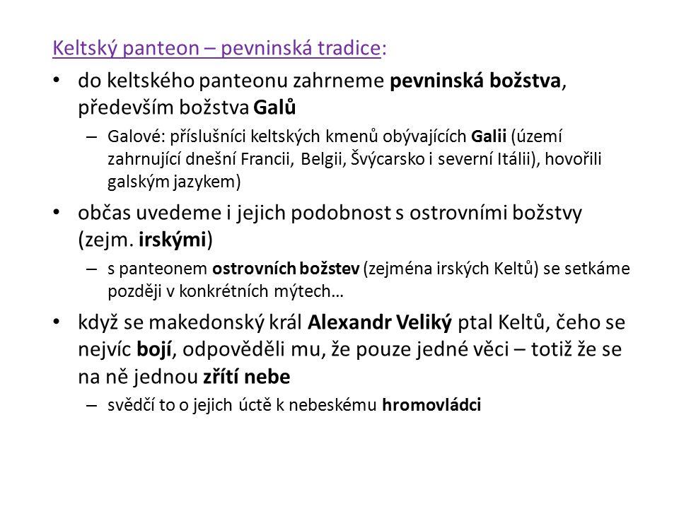 Keltský panteon – pevninská tradice: