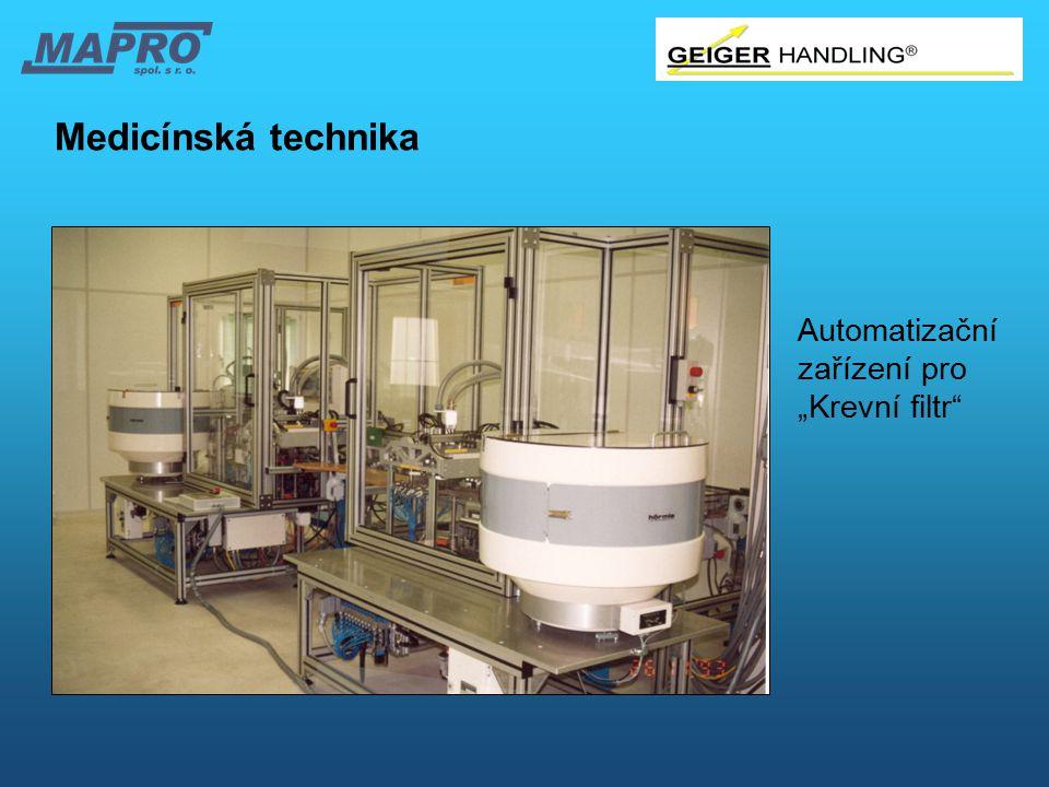 """Medicínská technika Automatizační zařízení pro """"Krevní filtr"""