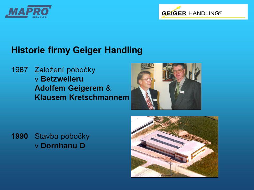 Historie firmy Geiger Handling