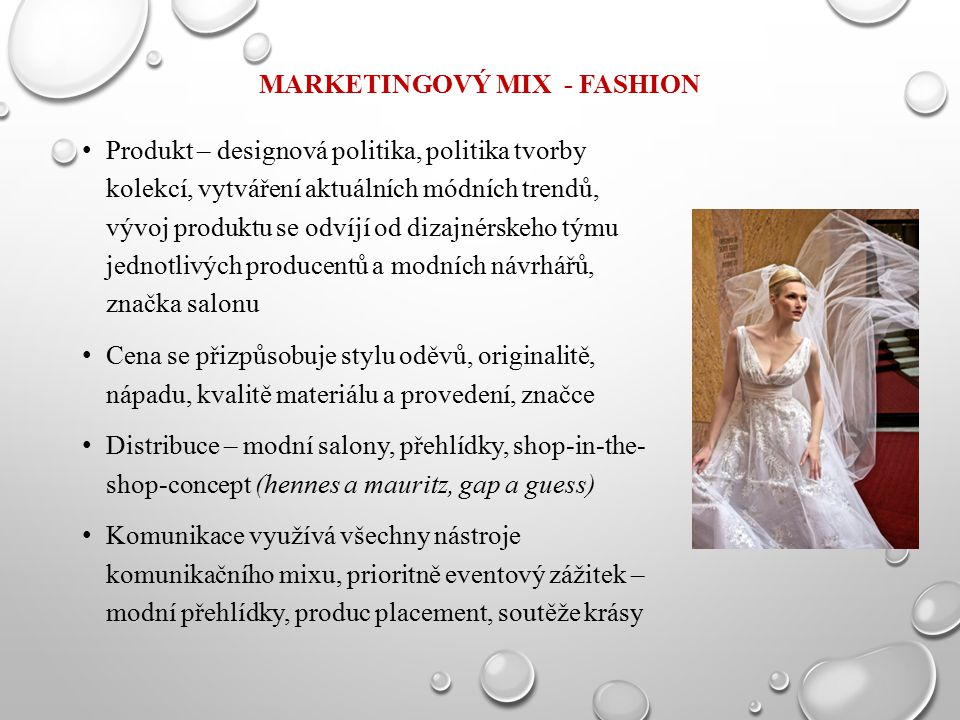 MARKETINGOVÝ MIX - FASHION