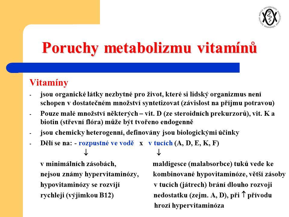 Poruchy metabolizmu vitamínů