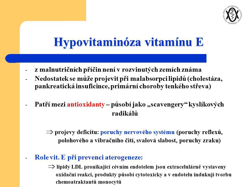 Hypovitaminóza vitamínu E