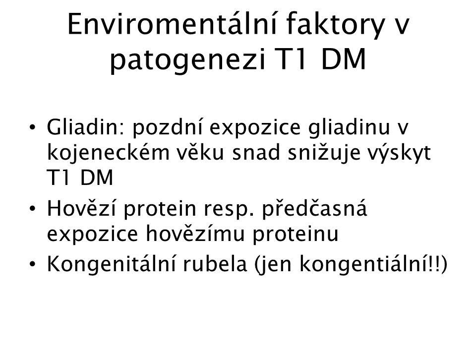 Enviromentální faktory v patogenezi T1 DM