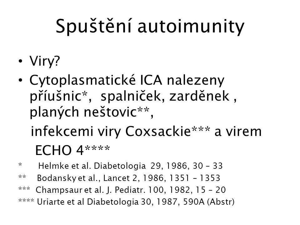 Spuštění autoimunity Viry