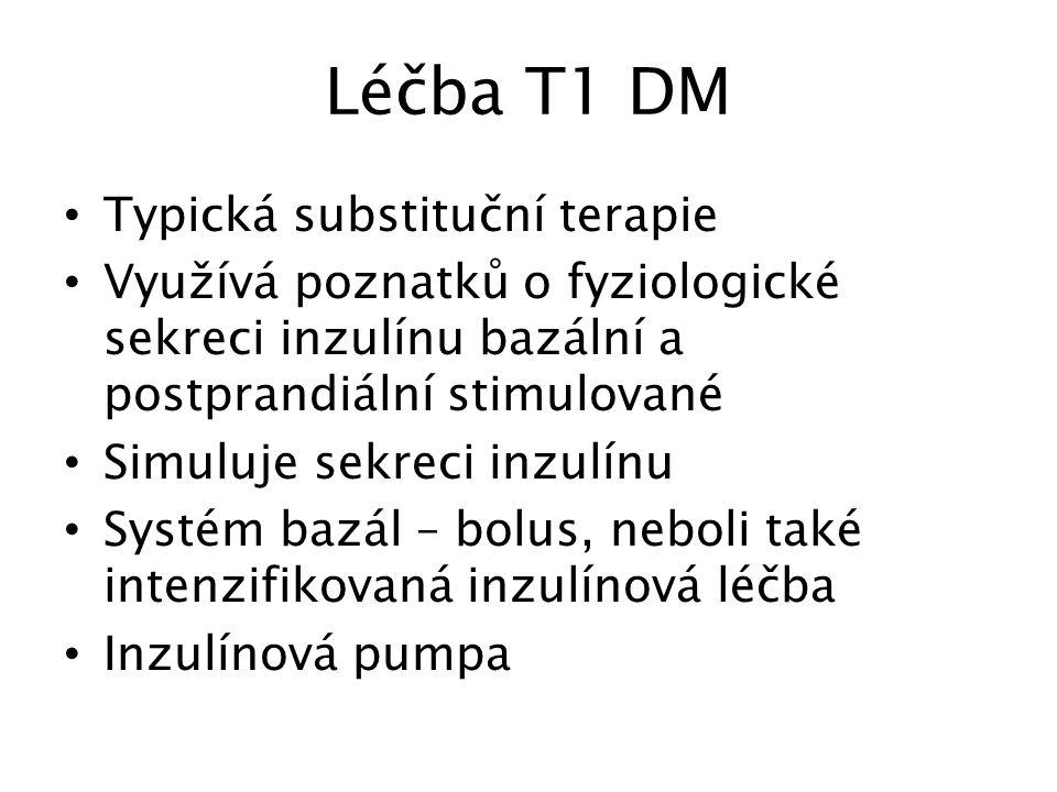 Léčba T1 DM Typická substituční terapie