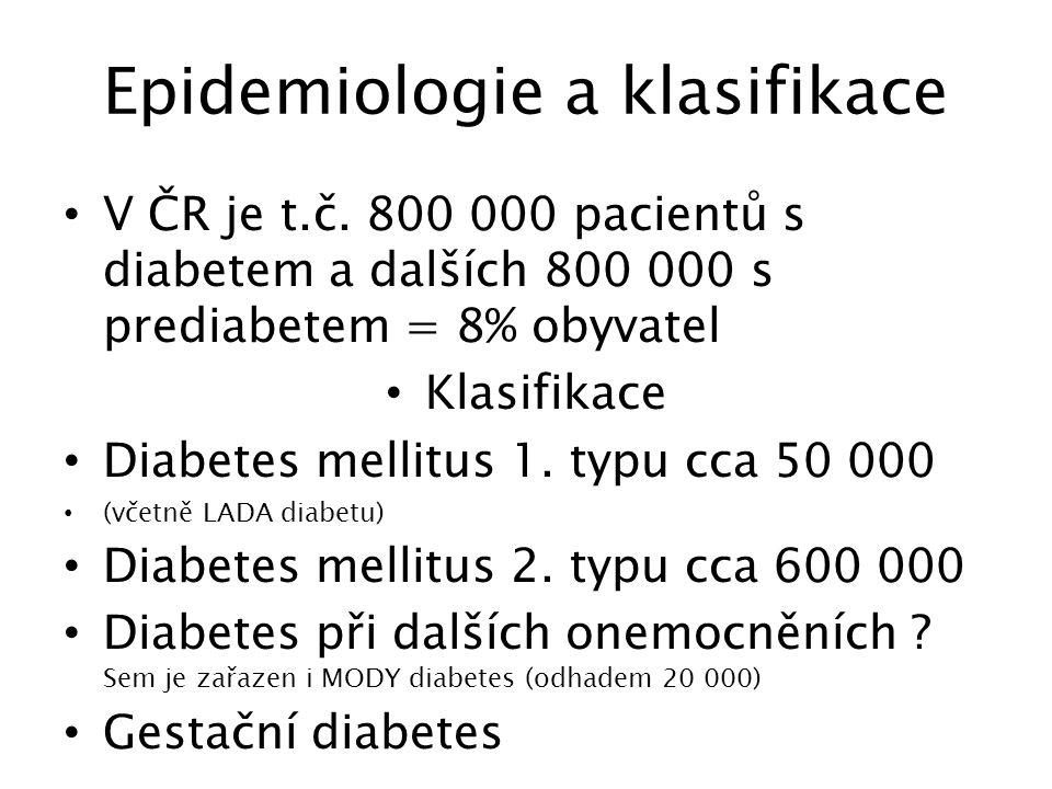 Epidemiologie a klasifikace