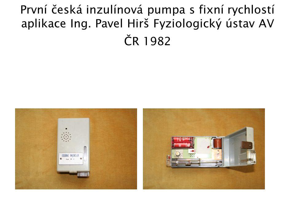 První česká inzulínová pumpa s fixní rychlostí aplikace Ing
