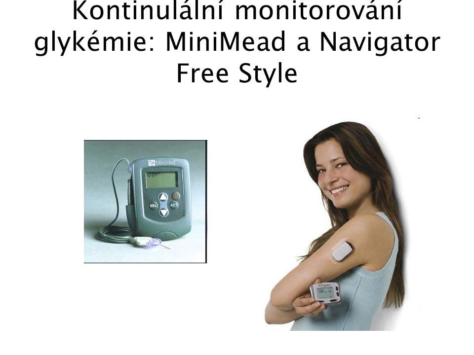 Kontinulální monitorování glykémie: MiniMead a Navigator Free Style