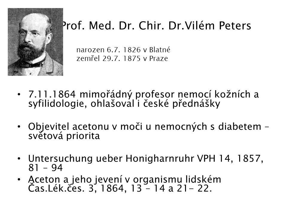 Prof. Med. Dr. Chir. Dr.Vilém Peters
