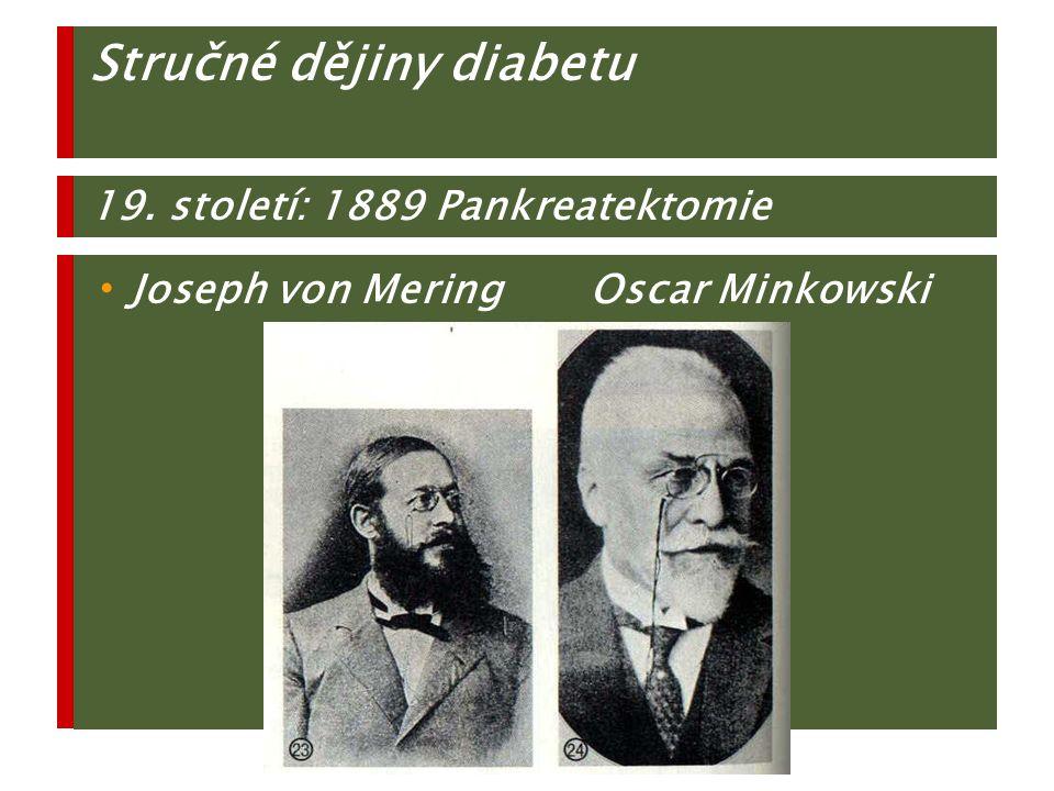Stručné dějiny diabetu