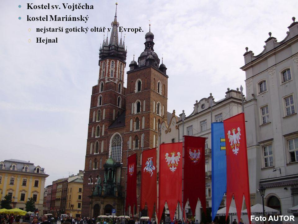 Kostel sv. Vojtěcha kostel Mariánský nejstarší gotický oltář v Evropě.