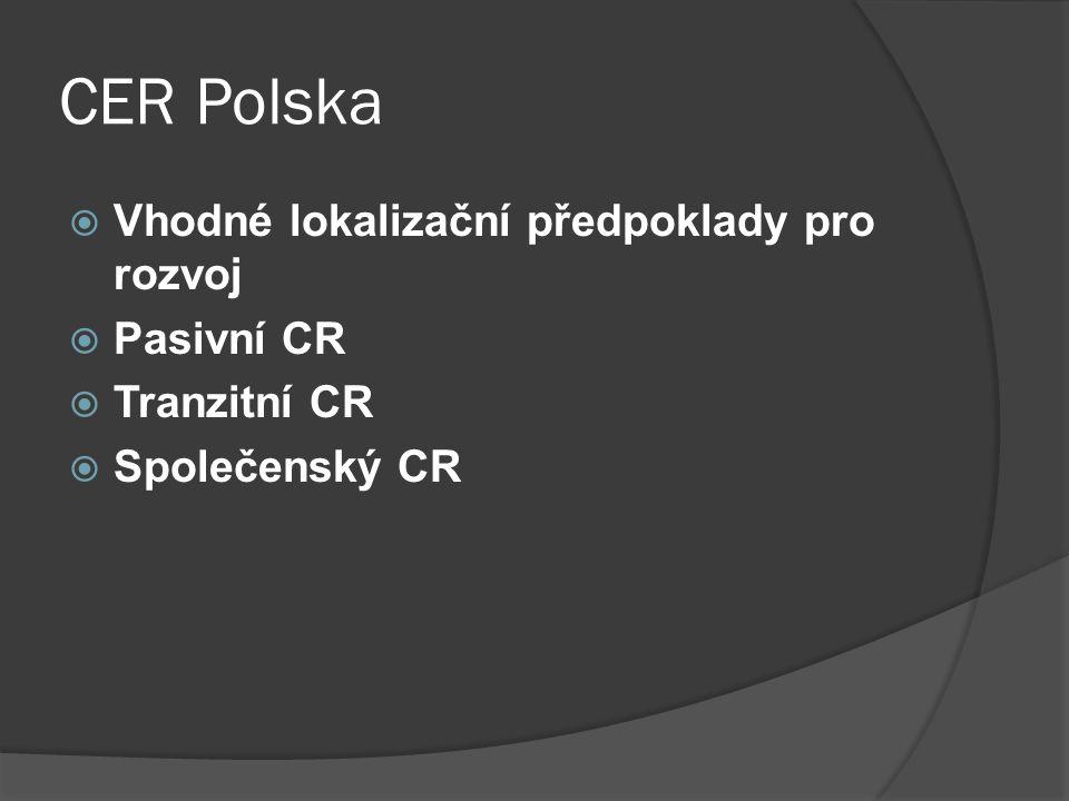 CER Polska Vhodné lokalizační předpoklady pro rozvoj Pasivní CR
