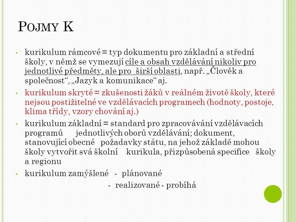 Pojmy K